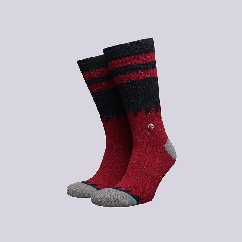 мужские бордовые  носки stance lopsided M556D16LOP - цена, описание, фото 1