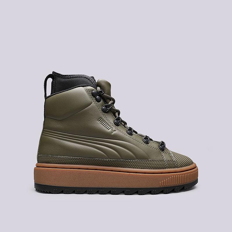 1217ef886016 зеленые, коричневые кроссовки puma the ren boot 36336603 - цена, описание,  фото 1