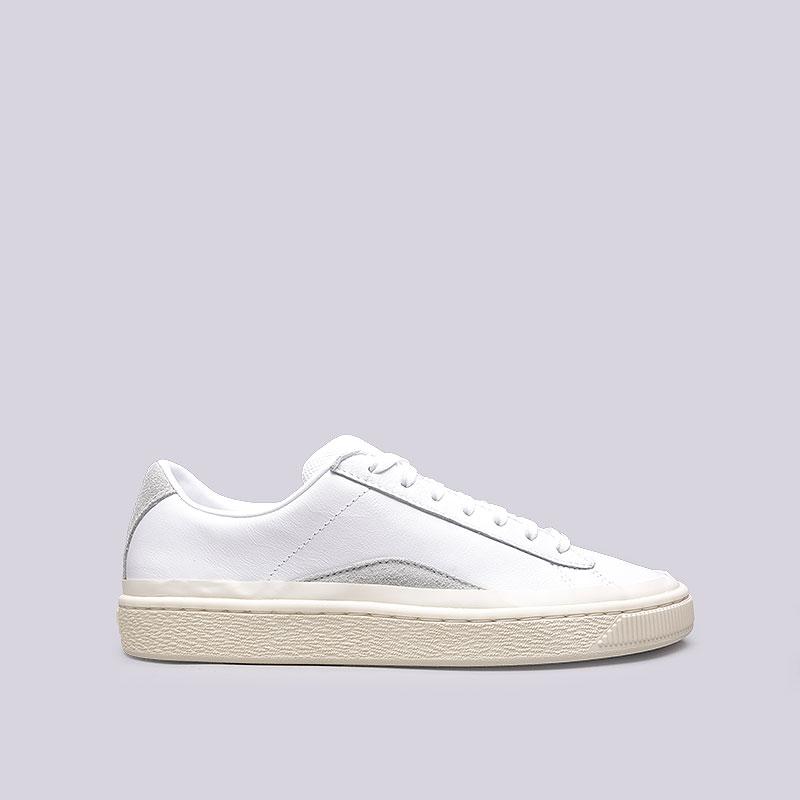 320031321dfe мужские белые кроссовки puma basket han 36718501 - цена, описание, фото 1