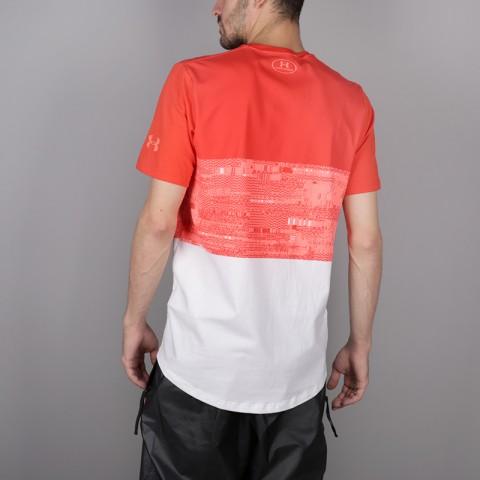 мужскую красную, белую  футболка under armour baseline btb 1323722-101 - цена, описание, фото 4