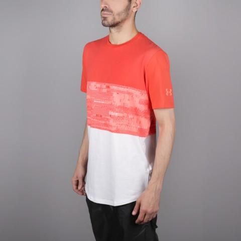 мужскую красную, белую  футболка under armour baseline btb 1323722-101 - цена, описание, фото 3