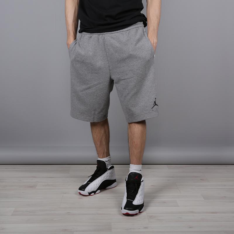мужские серые  шорты jordan hbr fleece AR2216-091 - цена, описание, фото 1
