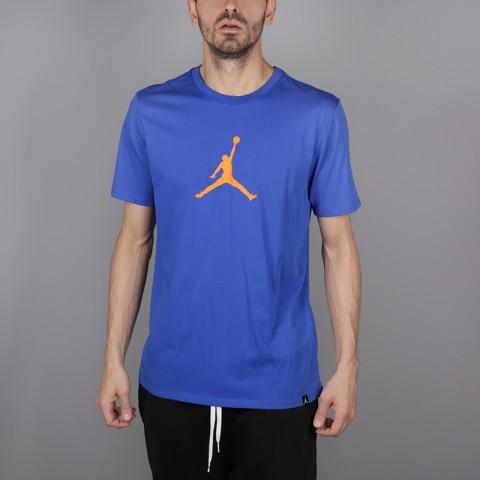 мужскую синюю  футболка jordan jumpman 23/7 925602-486 - цена, описание, фото 1