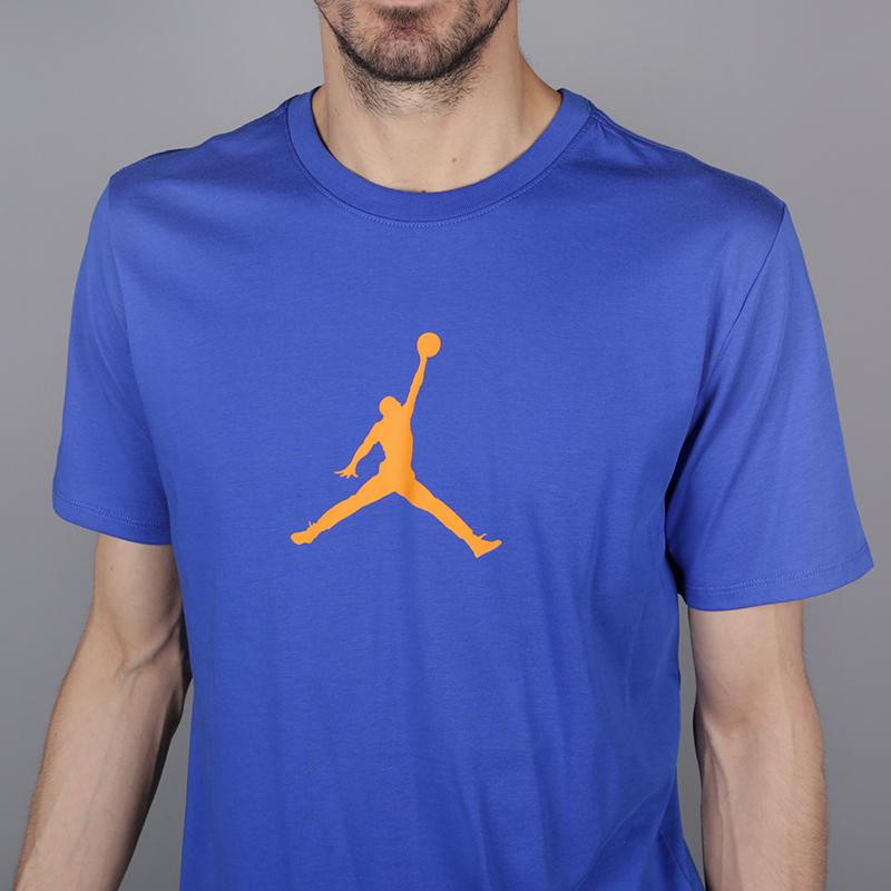 мужскую синюю  футболка jordan jumpman 23/7 925602-486 - цена, описание, фото 2