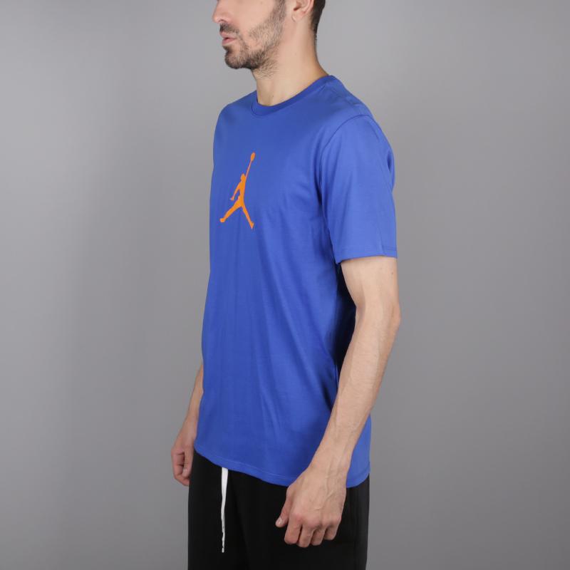 мужскую синюю  футболка jordan jumpman 23/7 925602-486 - цена, описание, фото 3