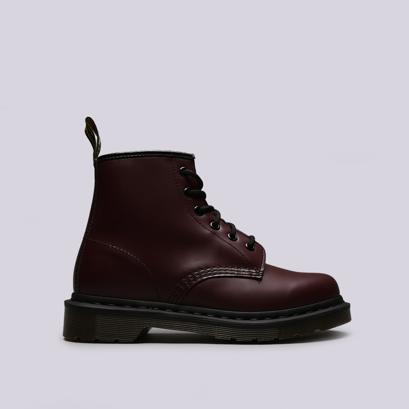бордовые  ботинки dr. martens smooth 10064600 - цена, описание, фото 1