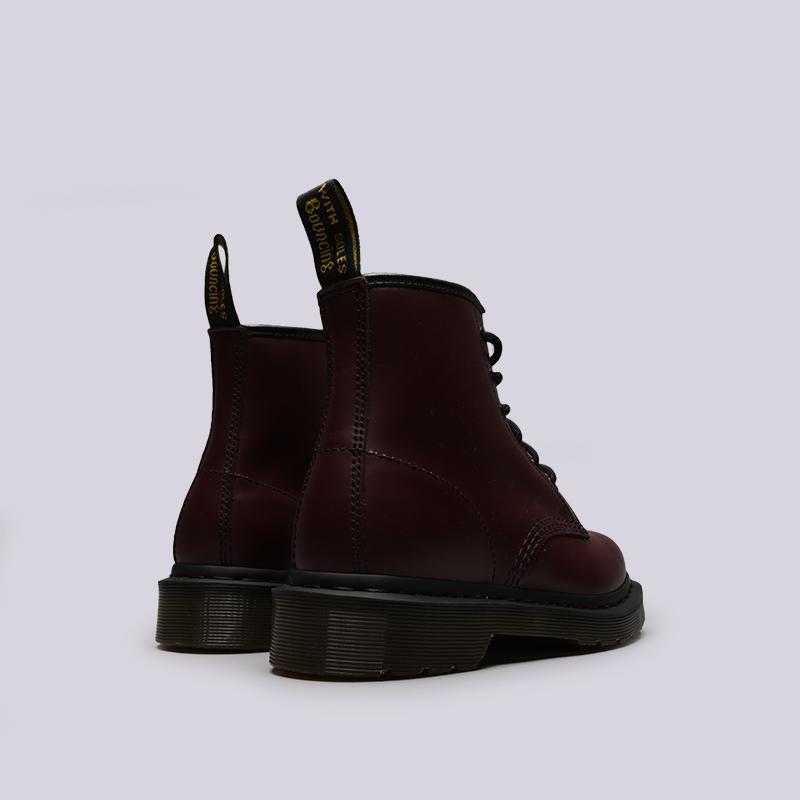 бордовые  ботинки dr. martens smooth 10064600 - цена, описание, фото 4