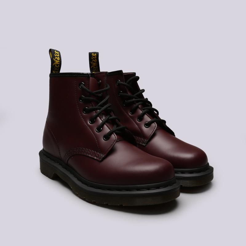 бордовые  ботинки dr. martens smooth 10064600 - цена, описание, фото 3