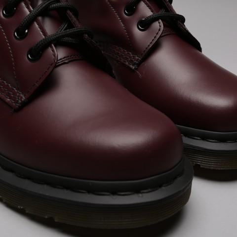 бордовые  ботинки dr. martens smooth 10064600 - цена, описание, фото 5