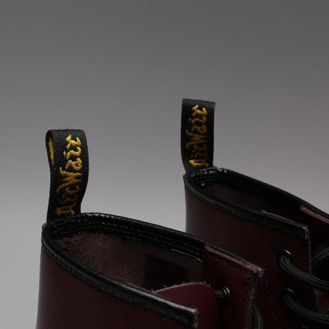 бордовые  ботинки dr. martens smooth 10064600 - цена, описание, фото 6