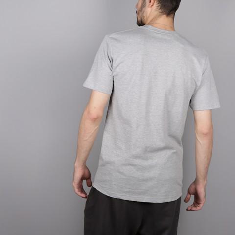 мужскую серую  футболка stussy melted tee 1904264-grey heather - цена, описание, фото 4
