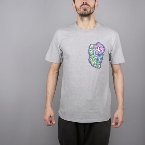 мужскую серую  футболка stussy melted tee 1904264-grey heather - цена, описание, фото 1
