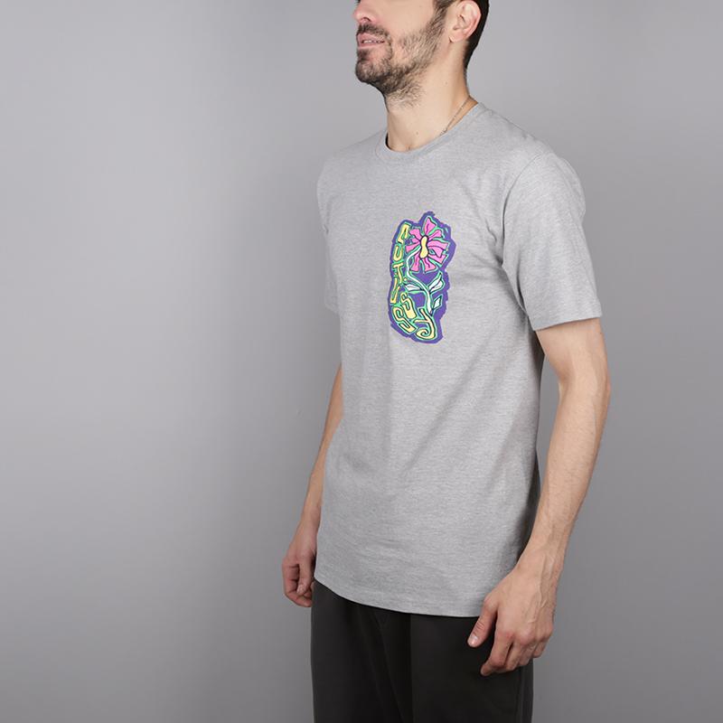 мужскую серую  футболка stussy melted tee 1904264-grey heather - цена, описание, фото 3