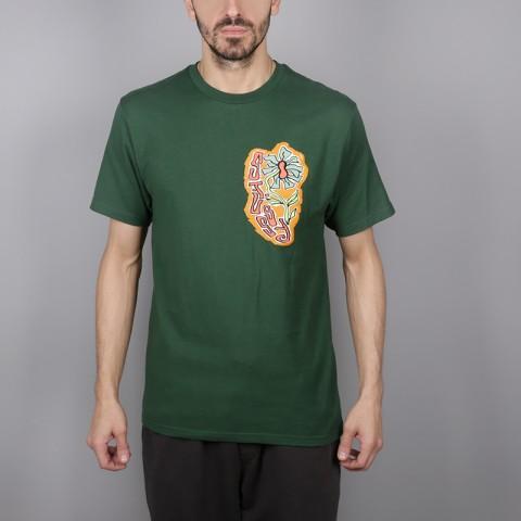 мужскую зелёную  футболка stussy melted tee 1904264-pine - цена, описание, фото 1