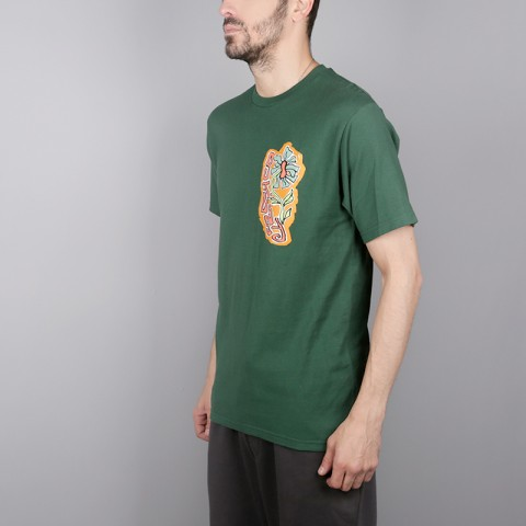 мужскую зелёную  футболка stussy melted tee 1904264-pine - цена, описание, фото 3
