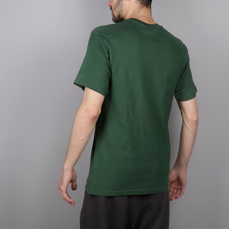 мужскую зелёную  футболка stussy melted tee 1904264-pine - цена, описание, фото 4