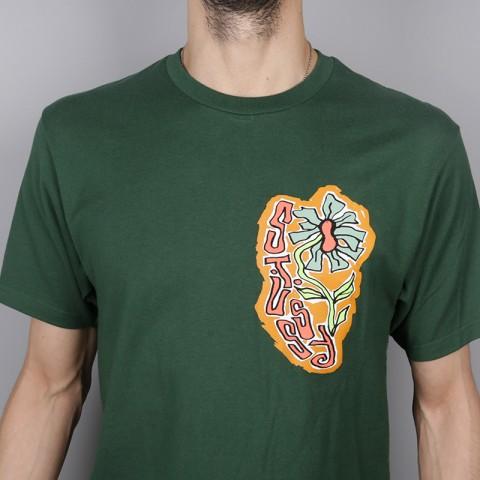 мужскую зелёную  футболка stussy melted tee 1904264-pine - цена, описание, фото 2
