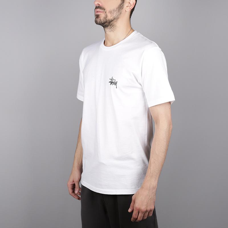 мужскую белую  футболка stussy basic stussy tee 1904257-white - цена, описание, фото 3