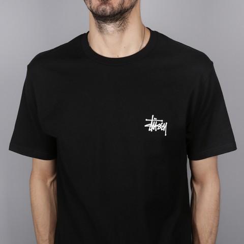 мужскую чёрную  футболка stussy basic stussy tee 1904257-black - цена, описание, фото 2