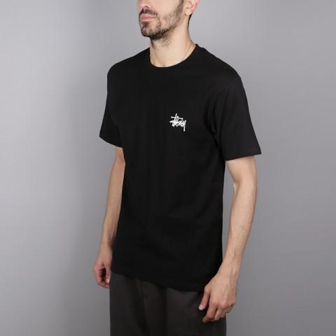 мужскую чёрную  футболка stussy basic stussy tee 1904257-black - цена, описание, фото 3
