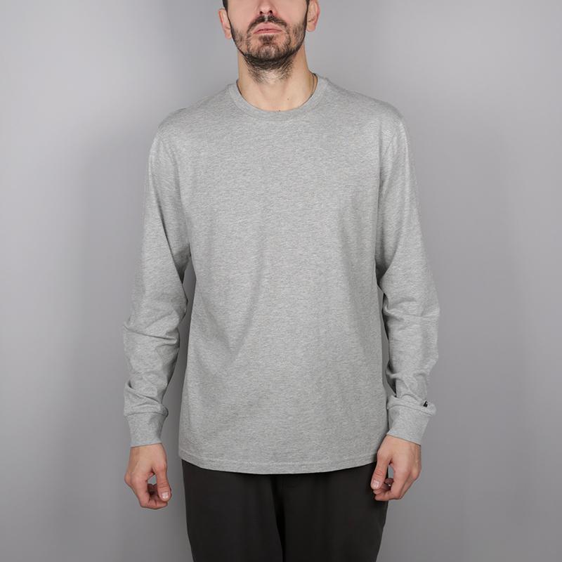 мужской серый  лонгслив carhartt wip base I026265-grey/blk - цена, описание, фото 1