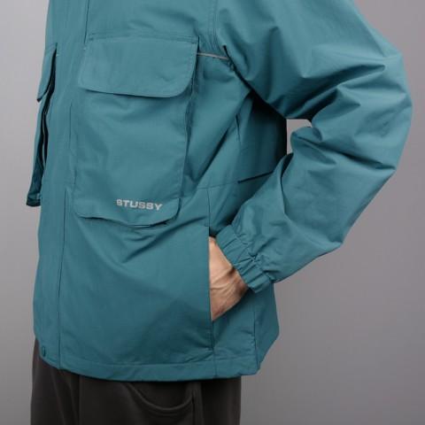 мужскую синюю  куртку stussy big pocket shell 115413-teal - цена, описание, фото 3