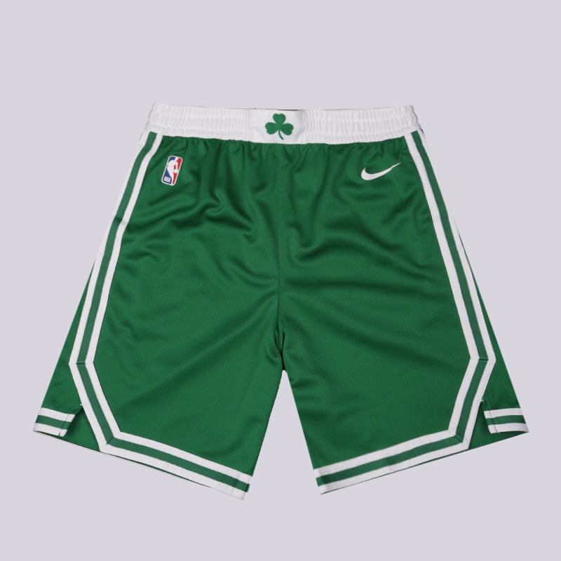 мужские зелёные  шорты nike boston celtics icon edition swingman AJ5587-312 - цена, описание, фото 1