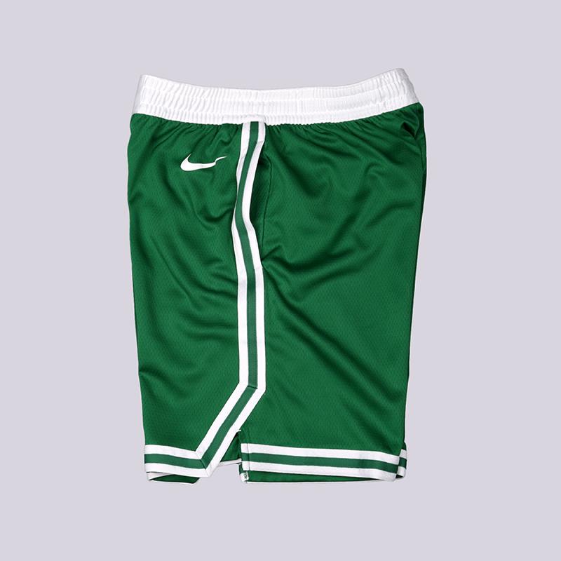 мужские зелёные  шорты nike boston celtics icon edition swingman AJ5587-312 - цена, описание, фото 2