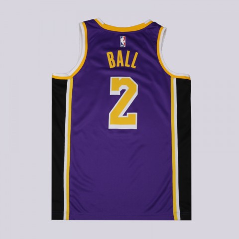 мужскую фиолетовую  майку nike lonzo ball statement edition swingman jersey AA7097-504 - цена, описание, фото 2