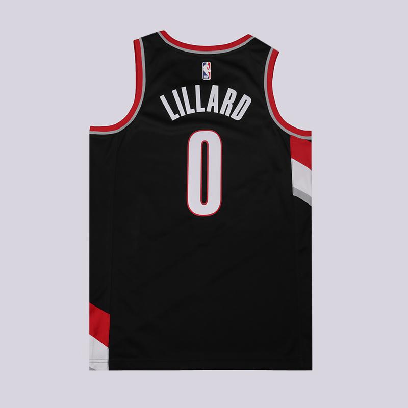 мужскую чёрную  майку nike damian lillard icon edition swingman jersey 864505-010 - цена, описание, фото 2