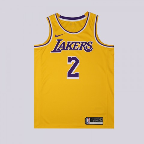 мужскую жёлтую  майку nike lonzo ball statement edition swingman jersey AA7099-728 - цена, описание, фото 1