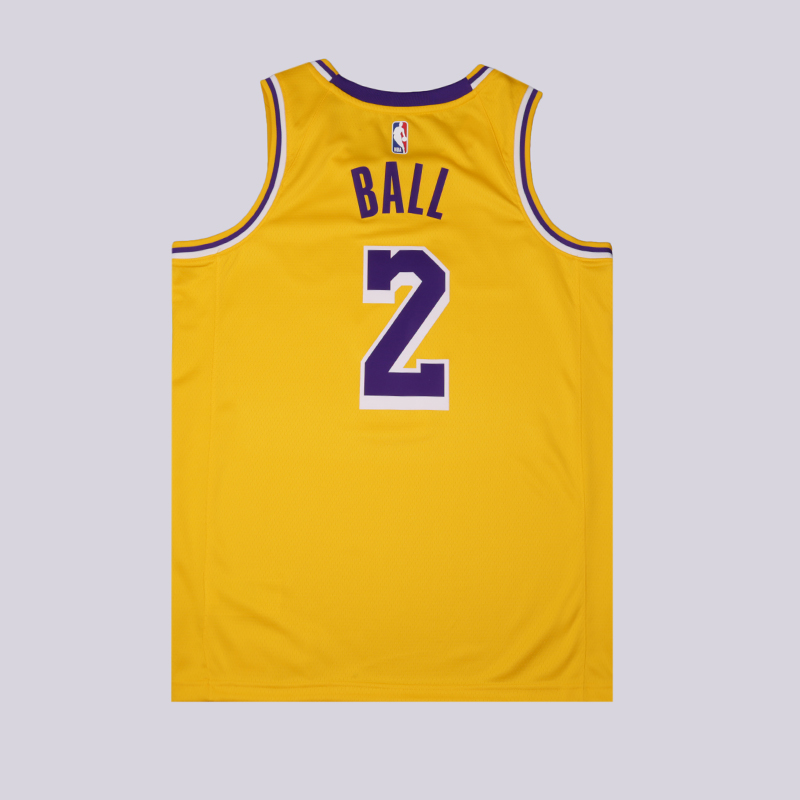 мужскую жёлтую  майку nike lonzo ball statement edition swingman jersey AA7099-728 - цена, описание, фото 2