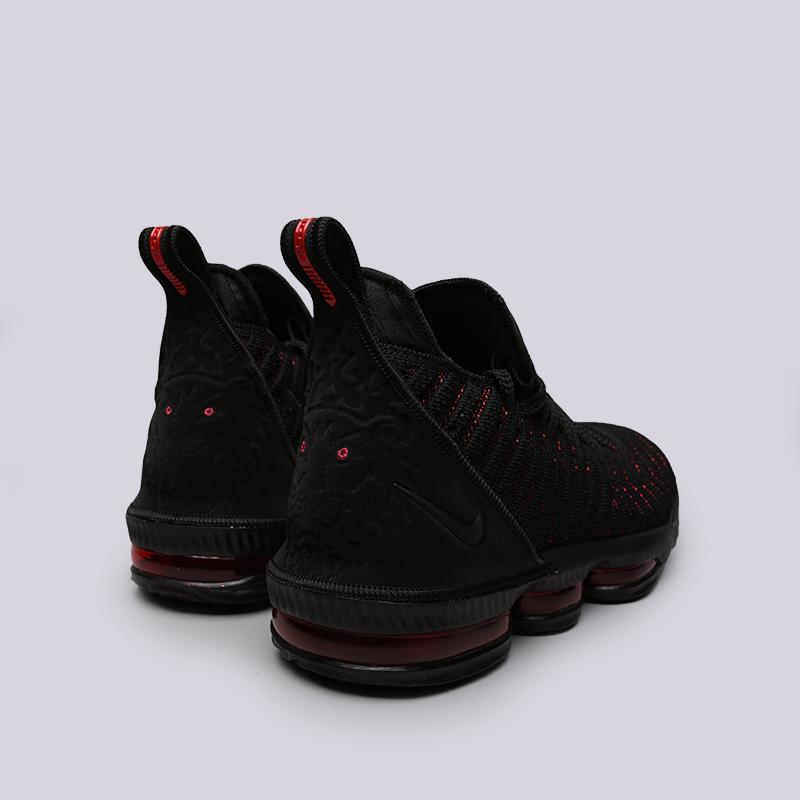 мужские чёрные  кроссовки nike lebron xvi AO2588-002 - цена, описание, фото 3