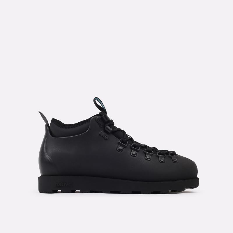 чёрные  ботинки native fitzsimmons citylite 31106800-1000 - цена, описание, фото 1