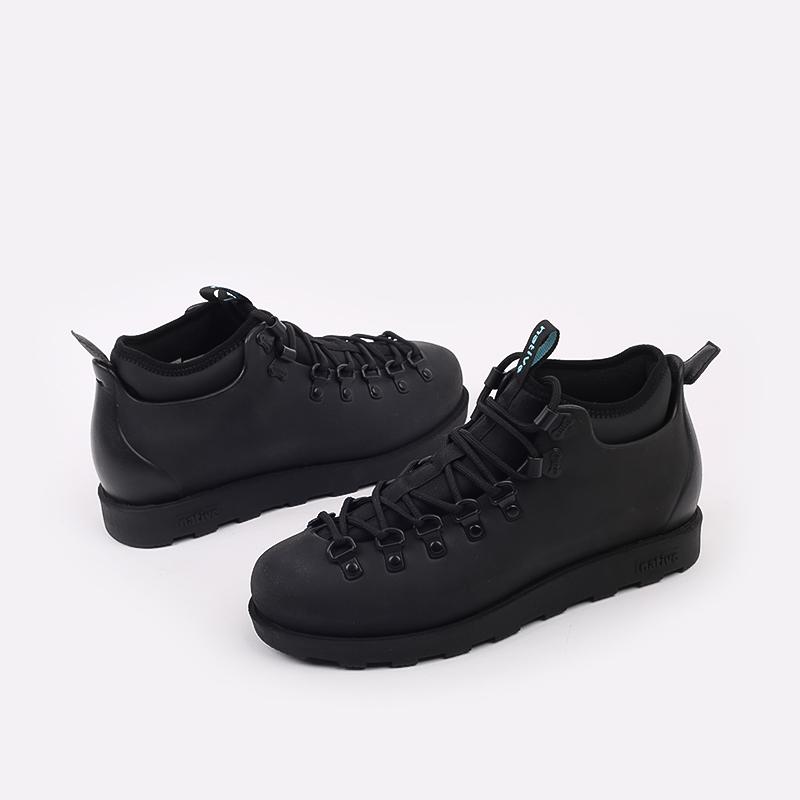 чёрные  ботинки native fitzsimmons citylite 31106800-1000 - цена, описание, фото 5
