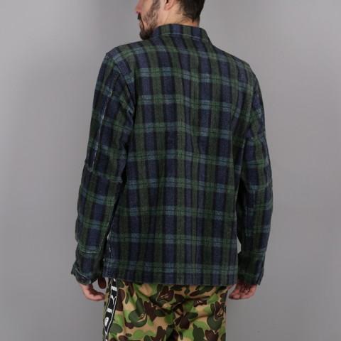 мужскую синюю, зелёную  рубашку stussy velveteen jungle 1110005-plaid - цена, описание, фото 5