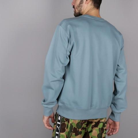 мужскую голубую  толстовка carhartt wip logo sweat i024679-dusty-blue - цена, описание, фото 4