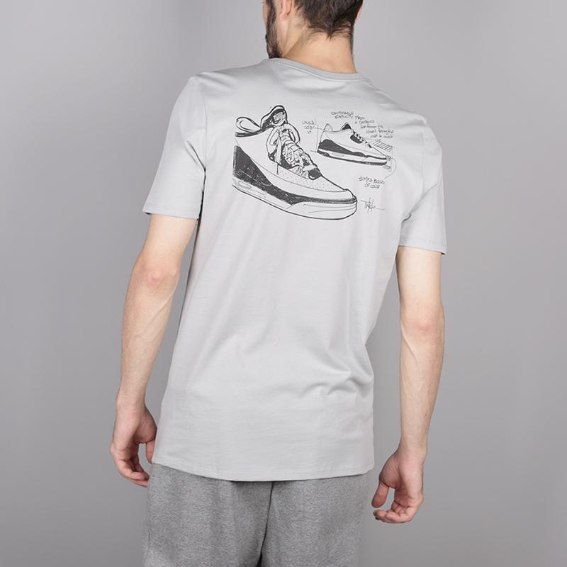 мужскую серую  футболка jordan aj3 legacy tinker tee BQ0267-019 - цена, описание, фото 4