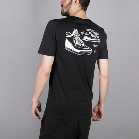 мужскую чёрную  футболка jordan aj3 legacy tinker tee BQ0267-010 - цена, описание, фото 4