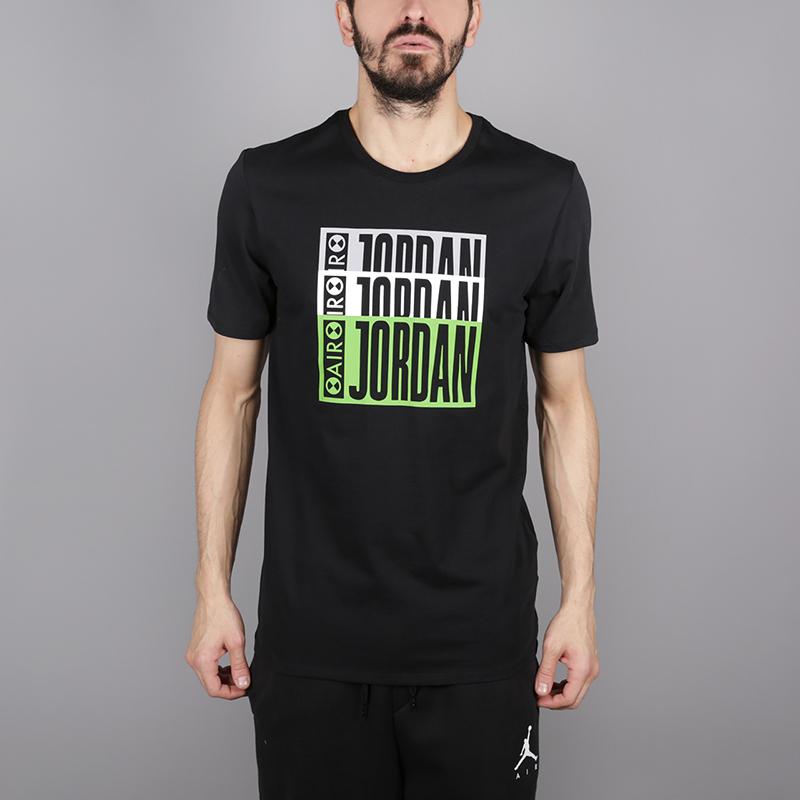 мужскую чёрную  футболка jordan aj3 legacy tinker tee BQ0267-010 - цена, описание, фото 1