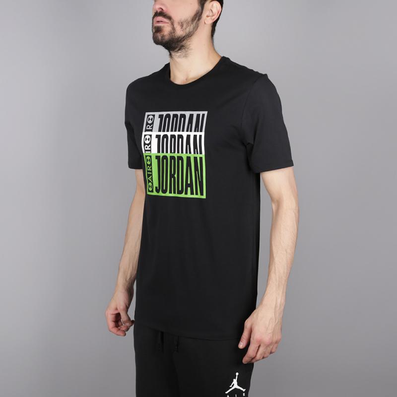 мужскую чёрную  футболка jordan aj3 legacy tinker tee BQ0267-010 - цена, описание, фото 3