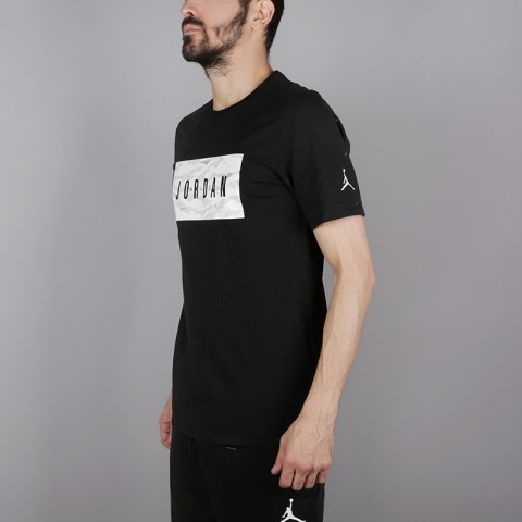 мужскую чёрную  футболка jordan tech wnt AH6328-010 - цена, описание, фото 3