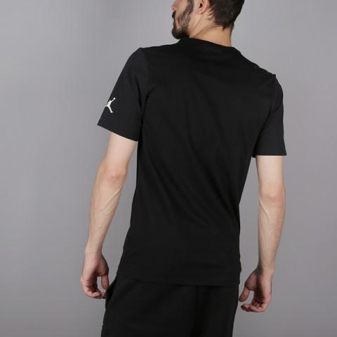 мужскую чёрную  футболка jordan tech wnt AH6328-010 - цена, описание, фото 4