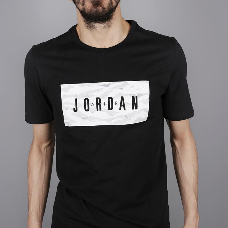 мужскую чёрную  футболка jordan tech wnt AH6328-010 - цена, описание, фото 2