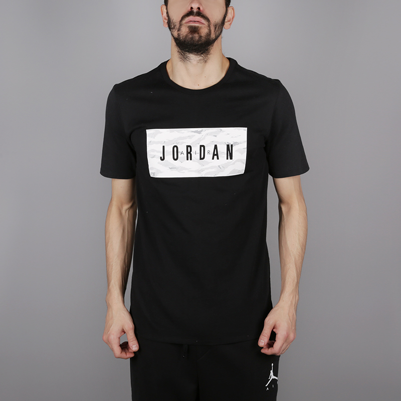 мужскую чёрную  футболка jordan tech wnt AH6328-010 - цена, описание, фото 1