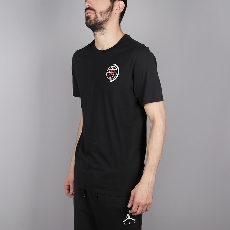 мужскую чёрную  футболка jordan heritage graphics AH6322-010 - цена, описание, фото 3