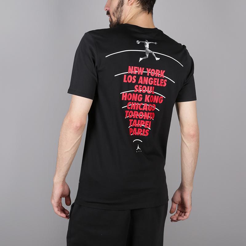 мужскую чёрную  футболка jordan heritage graphics AH6322-010 - цена, описание, фото 4