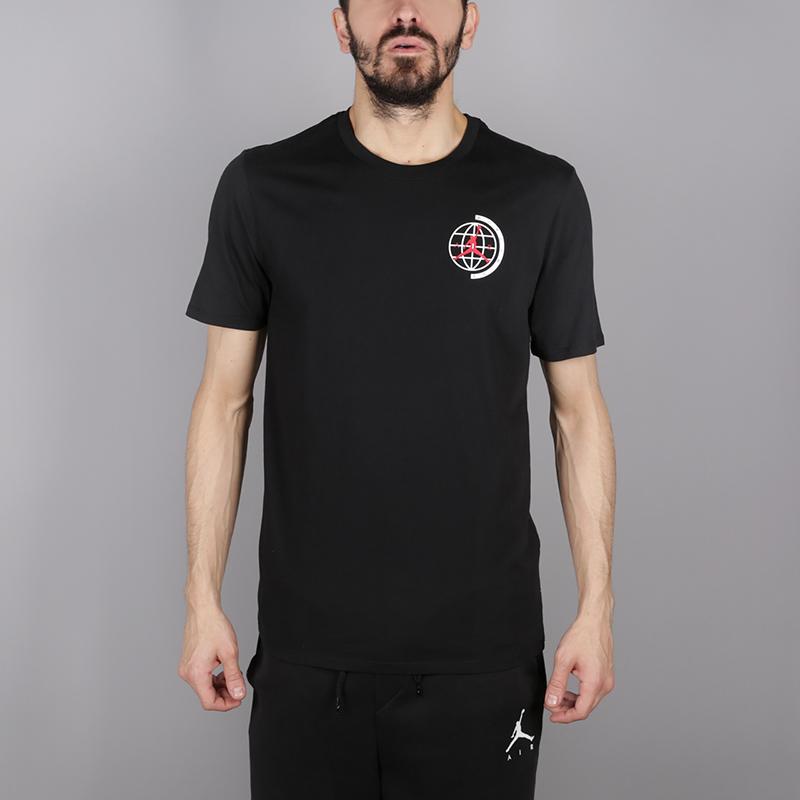 мужскую чёрную  футболка jordan heritage graphics AH6322-010 - цена, описание, фото 1