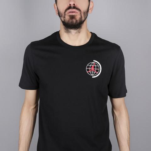 мужскую чёрную  футболка jordan heritage graphics AH6322-010 - цена, описание, фото 2