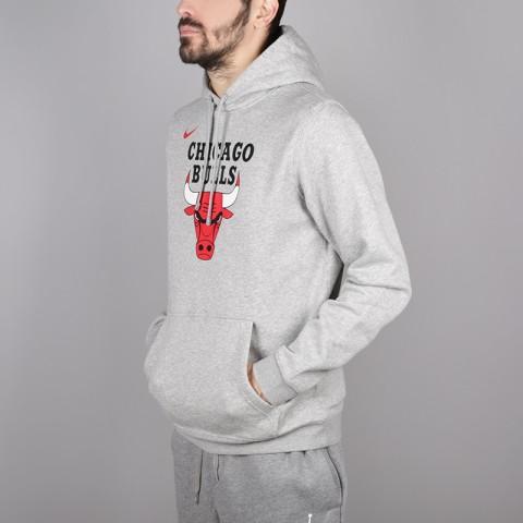 мужскую серую  толстовка nike chicago bulls hoodie AA3653-063 - цена, описание, фото 3